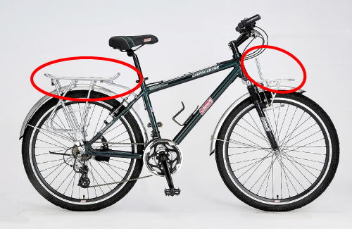 災害時の荷物運搬用の自転車 ...